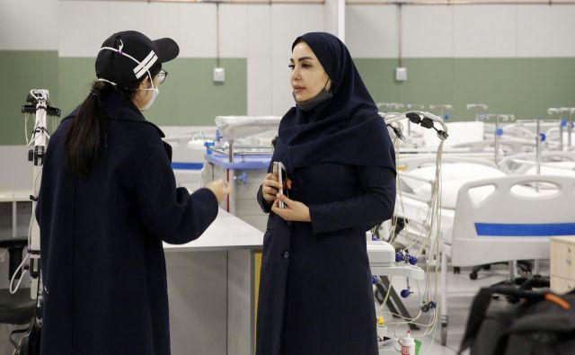 Poljska bolnišnica v Teheranu. FOTO: AFP