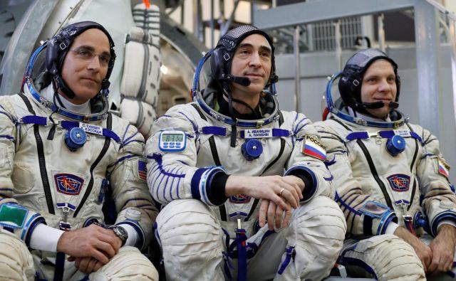 Na mednarodno postajo bodo predvidoma 9. aprila poleteli Nasin astronavt Chris Cassidy ter ruska kozmonavta Anatolij Ivanišin in Ivan Vagner. FOTO:Reuters