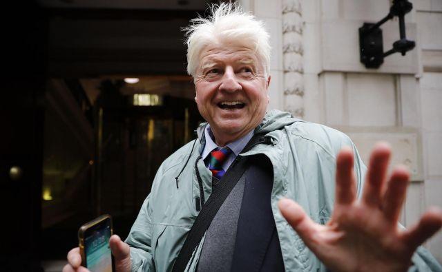 Stanley Johnson je na referendumu leta 2016 glasoval za obstanek Velike Britanije v EU. FOTO: Tolga Akmen/AFP