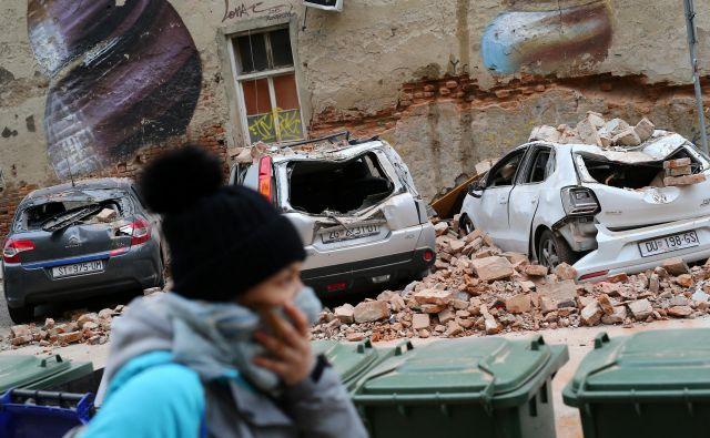Epicenter potresa na Hrvaškem je bil 16 kilometrov severno od Zagreba na globini desetih kilometrov.Foto: Antonio Bronić/Reuters