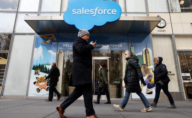Salesforce ponuja uporabo aplikacij v oblaku za prodajo, trženje in trgovino ter servisno podporo strankam. FOTO: Reuters