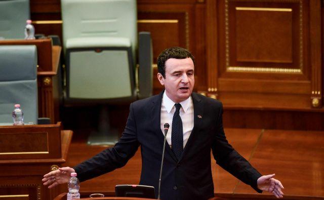 Parlament je izglasoval nezaupnico vladi Albina Kurtija. Foto: AFP