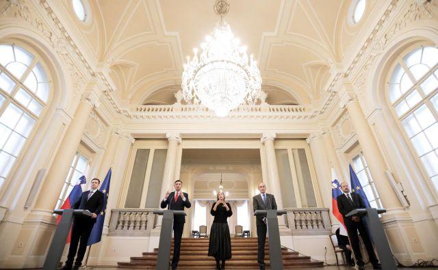 »Kot bomo preživeli krizo, tako bomo živeli po njej,« je poudaril predsednik republike Borut Pahor. FOTO: Daniel Novakovič/STA