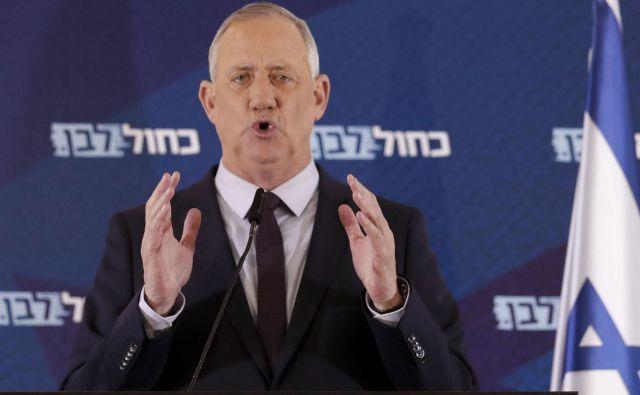 Voditelj izraelske opozicije Beni Ganc se je predal Foto: AFP