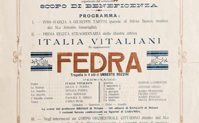 Plakat, ki je leta 1910 vabil na prvo predstavo v Gledališče Tartini. Foto Riccardo Bertoni, Avditorij Portorož