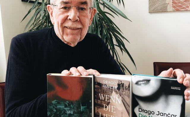 Jančarjeve knjige zlezejo pod kožo, pravi avstrijski predsednik Alexander Van der Bellen. Foto Facebook