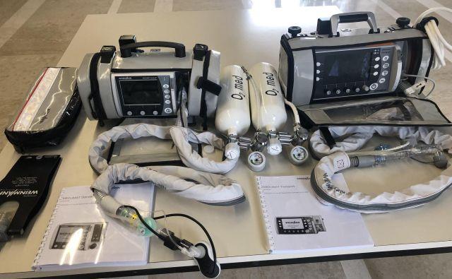 Transportna respiratorja tipa Medumat Standard oziroma Medumat Transport nemškega proizvajalca Weinmann. FOTO: HSE