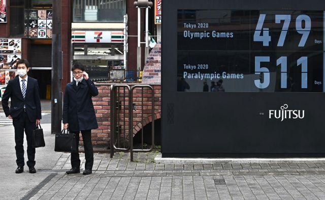 V Tokiu so na novo nastavili odštevanje do začetka olimpijskih iger. FOTO: AFP