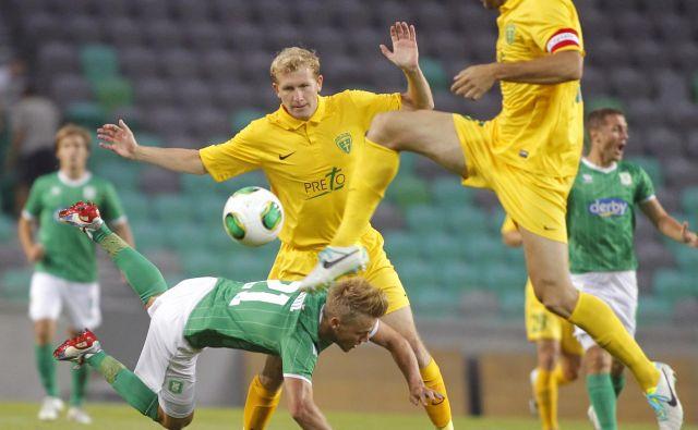 Žilina je leta 2013 v kvalifikacijah za evropsko ligo izločila Olimpijo, po 1:3 v Stožicah je na Slovaškem zmagala z 2:0. FOTO: Tomi Lombar