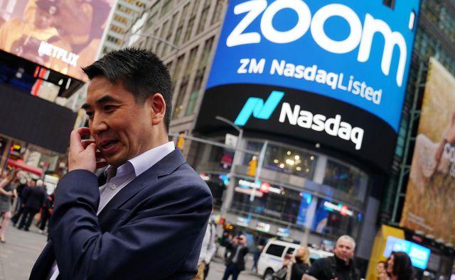 Ustanovitelj in predsednik platforme za videokonference Zoom Video Communications Eric Yuan Zheng je povečal bogastvo za 3,5 milijarde dolarjev. FOTO: Reuters