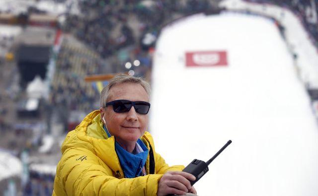 Walter Hofer je sklenil 28-letno delovanje v vlogi tekmovalnega direktorja za skoke v Mednarodni smučarski zvezi (FIS). FOTO: Matej Družnik