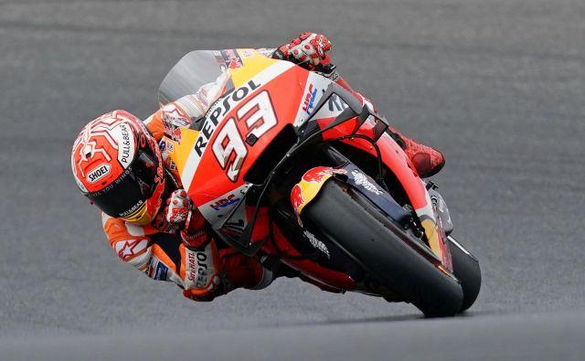 Šestkratni svetovni prvak Marc Marquez bo moral na začetek sezone še dolgo čakati. FOTO: Reuters