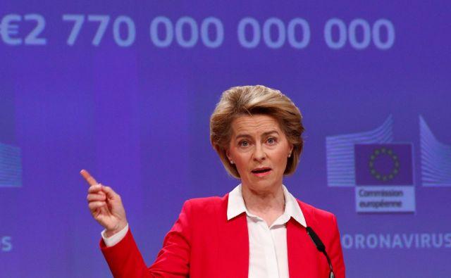 Evropska komisija s svojimi predlogi poskuša začrtati smer reševanja gospodarskih posledic koronakrize. FOTO: François Lenoir/Reuters