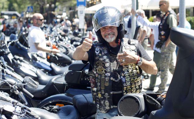 Srečanje motoristov Harley - Davidson v Portorož�u pred štirimi leti je bilo nadvse odmevno. FOTO: Leon Vidic/Delo
