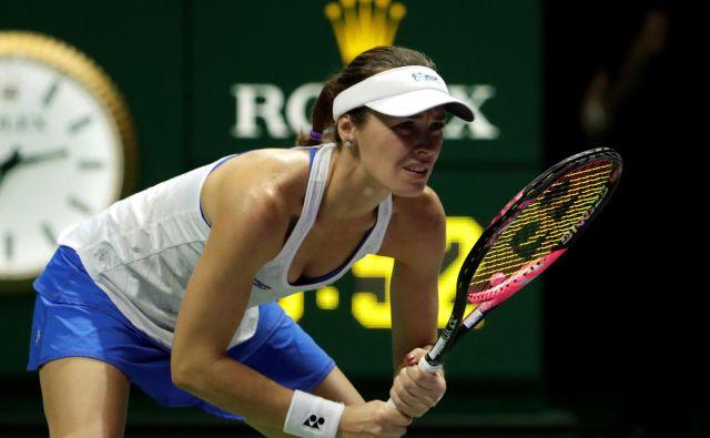 Martina Hingis je zadnjič nastopila na finalnem turnirju WTA v Singapurju oktobra 2017. FOTO: Reuters