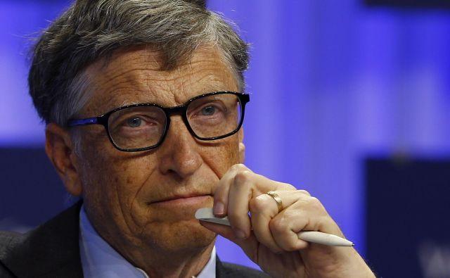 Ustanovitelj Microsofta in humanitarec Bill Gates poudarja, da mora Amerika dramatično povečati testiranje prebivalstva. FOTO: Reuters