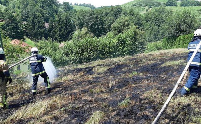 Gasilci so imeli čez konec tedna veliko dela s požari v naravi. Slika je simbolična. FOTO: Oste Bakal