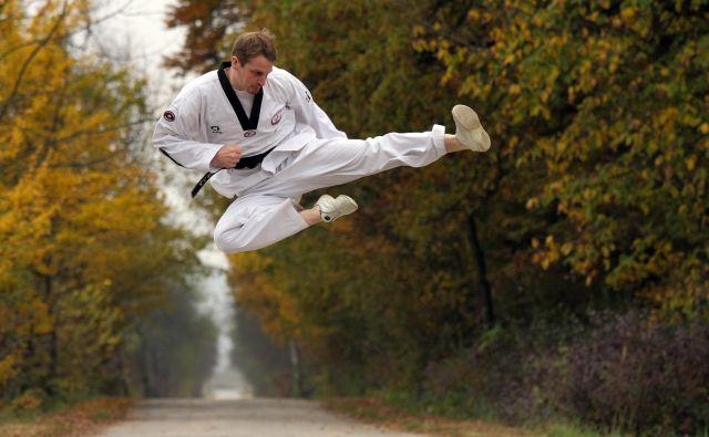 Tomaž Zakrajšek je leta 2006 v Bonnu na evropskem prvenstvu olimpijskega združenja v tekvondoju navdušil z bronasto kolajno v kategoriji do 84 kilogramov. FOTO: Peter Nose