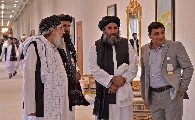Talibska delegacija v Dohi. Foto: AFP