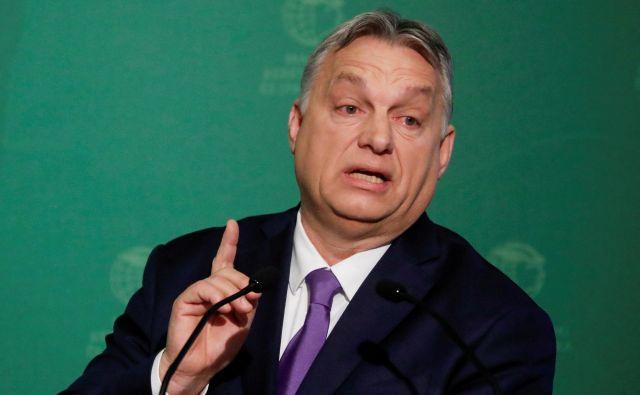 Madžarski premier Viktor Orbán. FOTO: Bernadett Szabo/Reuters