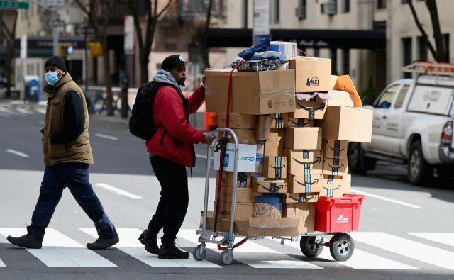 New York ostaja žarišče pandemije v ZDA. FOTO: Angela Weiss/AFP