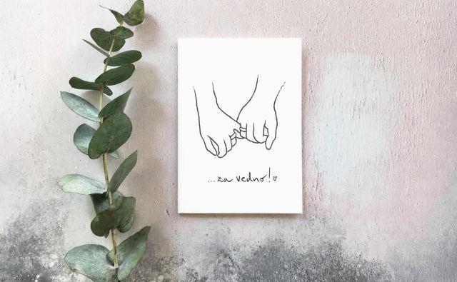 Razglednica Za vedno, Nina Kovačič Foto Arhiv Ilustratorke