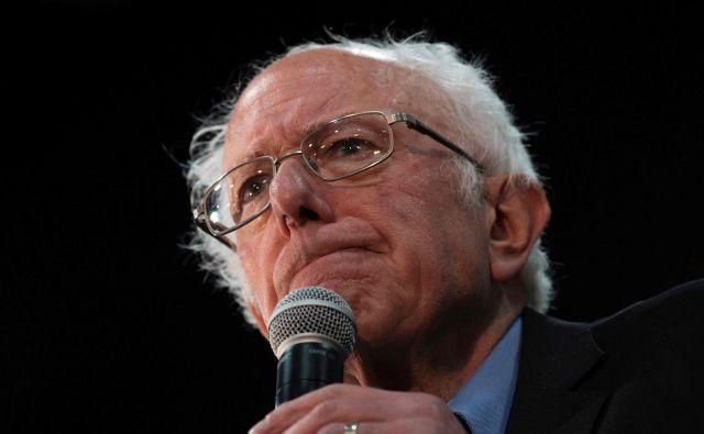 Bernie Sanders med februarsko kampanjo v Južni Karolini. FOTO: Jim Watson Afp