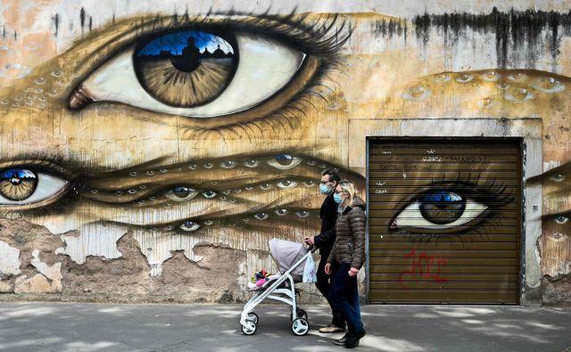 Nova normalnost v Rimu. Foto: Afp