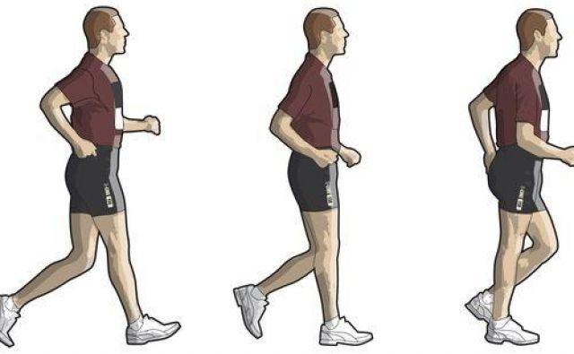 Ena noga mora biti vedno v stiku s podlago, sprednja noga pa stegnjena, ne pokrčena v kolenu. FOTO: Shutterstock