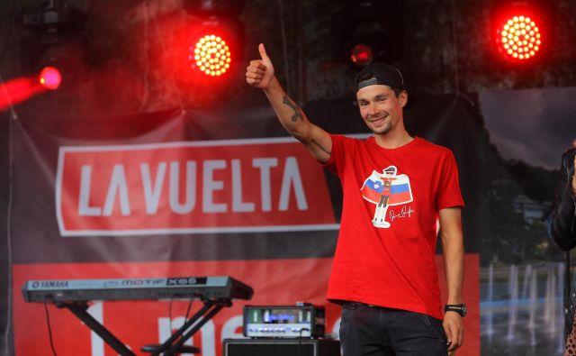 Lani je Roglič na noge dvignil Slovenijo s 3. mestom na Giru in zmago na Vuelti. FOTO: Jože Suhadolnik/Delo