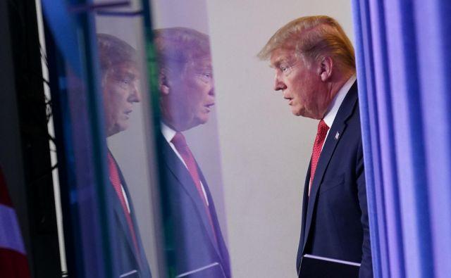 Ameriški predsednik Donald Trump po koncu zdravstvene krize že napoveduje še večji gospodarski razcvet. FOTO: Mandel Ngan/AFP
