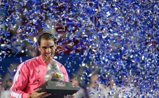 Nadal Rafael je odigral zadnjo tekmo 1. marca v finalu turnirja v mehiškem Acapulcu. FOTO: AFP