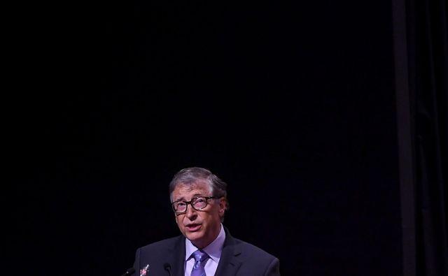 Bill Gates je za boj proti covidu-19 do zdaj namenil 250 milijonov dolarjev. Foto: Money Sharma/Afp