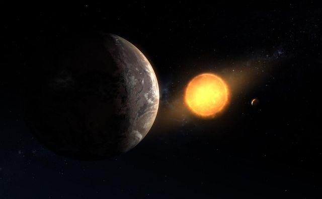 Upodobitev planeta Kepler 1649c ob rdeči pritlikavki. FOTO: NASA/Ames Research Center/Daniel Rutter