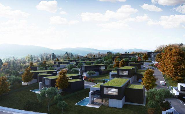 Naselje 37 hiš in dvojčkov bo v štirih terasastih nizih in obrnjeno proti jugozahodu, premoglo bo štiri otroška igrišča, igrišče za minigolf in dva zunanja fitnesa.