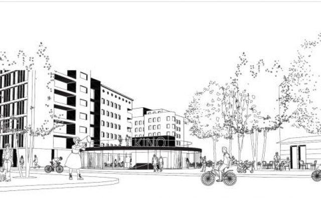 Del zmagovalne arhitekturne rešitve za mestni minipleks je tudi paviljon pri vhodu v podhod Ajdovščina.