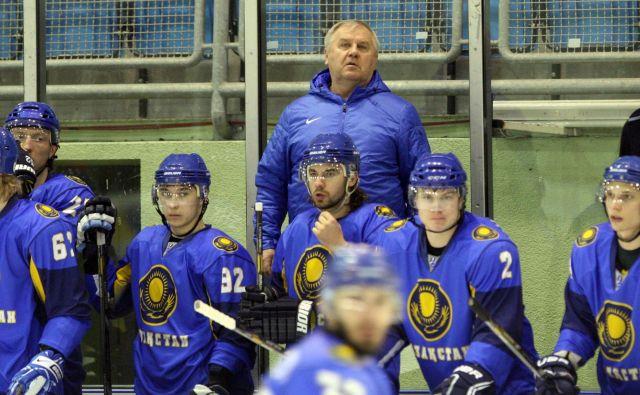 Vladimir Krikunov je na svoji dolgi hokejski poti vodil tudi kazahstansko reprezentanco, s katero je pred sedmimi leti gostoval v Mariboru. FOTO: Tadej Regent/Delo