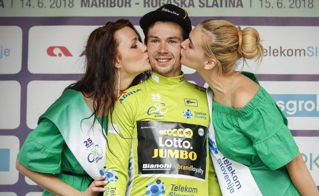 Primož Roglič je predlani slavil zmago na dirki po Sloveniji, ki je letos ne bo. FOTO: Uroš Hočevar/Delo