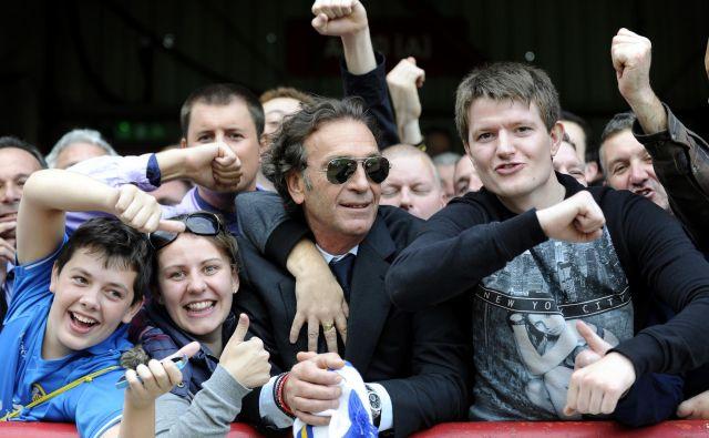 Massimo Cellino (v sredini) je vselej bridek in je tudi kolegom v Italiji nalil čistega vina. FOTO: Reuters