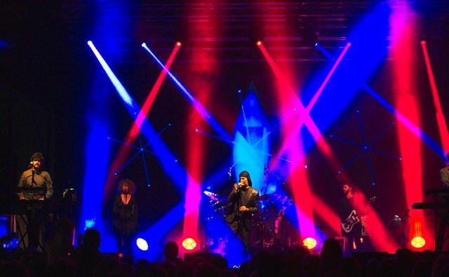 Laibach, naš svetovno najbolj odmevni umetniški projekt, na nastopu v Avstraliji.FOTO: Tomislav Gangl