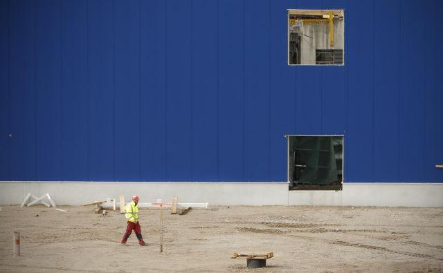 Na gradbišču v ljubljanskem BTC je vsak dan okoli 180 delavcev novomeškega gradbenega podjetja CGP. Foto Jure Eržen