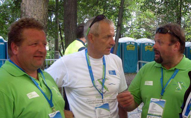 Prvi protidopinški agent v Sloveniji Jani Dvoršak, v sredini, trenutno ni na terenu, a prišel bo tudi ta čas. FOTO: Igor Mali