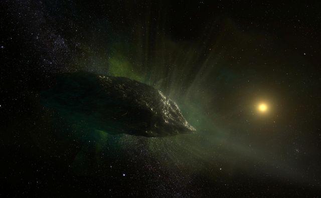 Ilustracija kometa 2I/Borisov. VIR: NRAO/AUI/NSF, S. Dagnello/Reuters