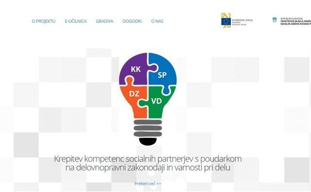 Spletna stran projekta FOTO: ZDSS