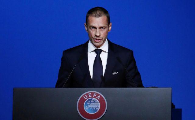 Uefa, ki jo vodi Aleksander Čeferin, je zanikala navedbe enega od južnoameriških časopisov. FOTO: Reuters