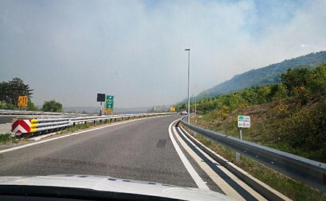 Požar na Primorskem. FOTO: PU Koper