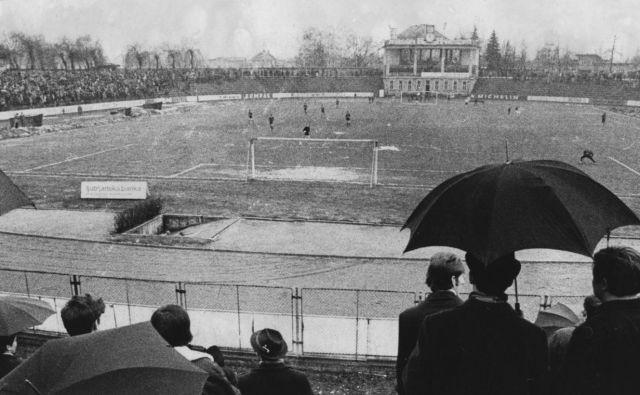 Plečnikov stadion leta 1972. Foto: dokumentacija Dela