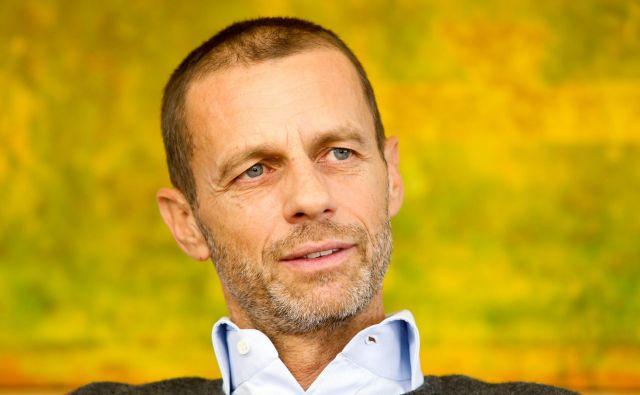 Aleksander Čeferin je danes prek videokonference zbral izvršni odbor Uefe. FOTO: Marko Feist