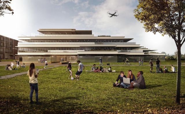 Novi fakulteti bosta po zmagovalni urbanistični rešitvi Šabec Kalan Šabec – Arhitekti zrasli ob obstoječih fakultetah v naravnem okolju na robu gozda, na travnikih ob potoku Glinščica. Računalniška projekcija: Sadar+Vuga