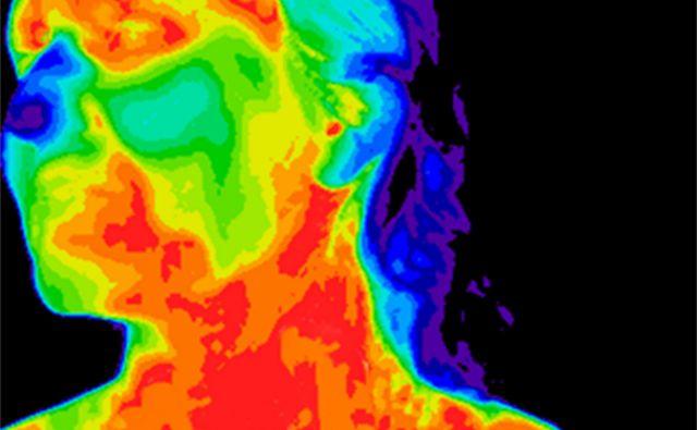 Strasti, posnete skozi lečo termografske kamere, gorijo kakor ogenj. FOTO: Shutterstock